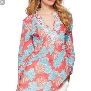 Lilly Pulitzer Sarasota Beaded Tunic Seashell